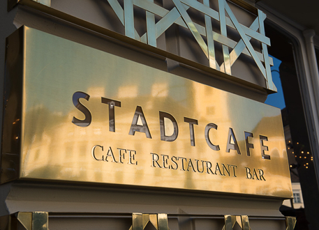Stadtcafe Firmenschild